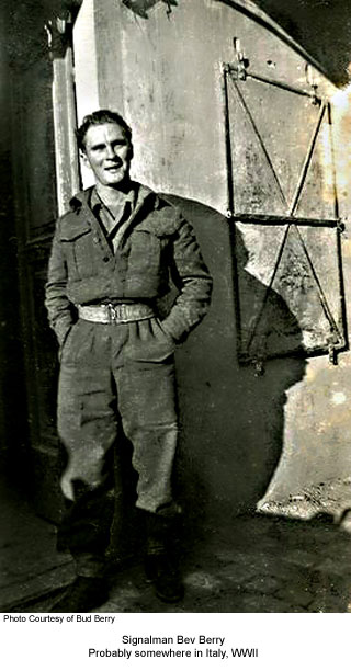 Bev Berry in Italy, WWII
