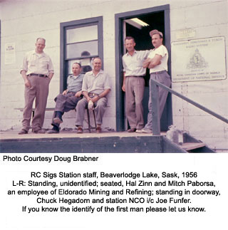 Sigs staff at Beaverlodge 1956