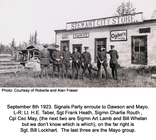 Sigs Party at Stewart, YT, 1923