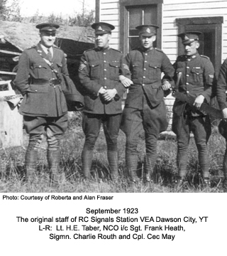 Original Staff of RC Sigs station Dawson City, 1923
