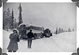 Bus out of the ditch