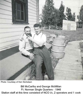 Bill McCarthy and George McMillan, Ft. Norman 1946