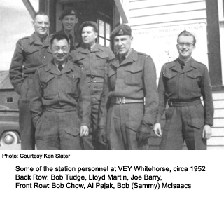 Station staff at Yellowknife 1952
