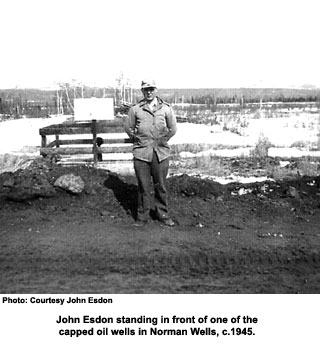John Esdon by oil well