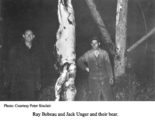 Bebeau and Unger with bear carcas