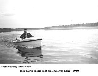 Jack Curtis and his boat.