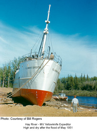 MV Yellowknife Expeditor, Hay River 1951