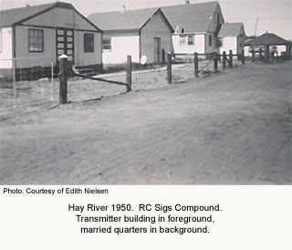 Sigs compound Hay River 1950