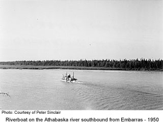 Steamboat on the Athabaska River at Embarras