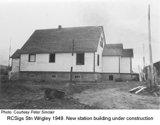 New station building at Wrigley 1949