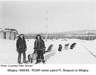 |RCMP Winter Patrol, Wrigley, 1948