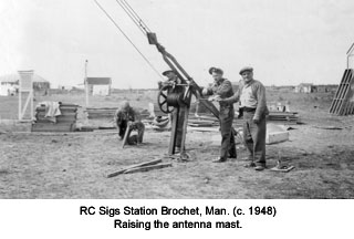 raising the antenna mast