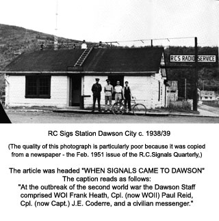 New station building, Dawson 1945