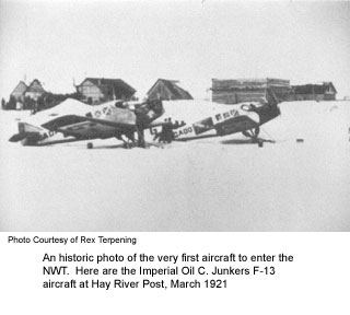 First aircraft to fly NWT