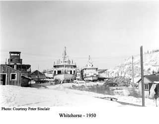 Steamboats in winter storage