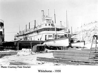 Steamboats in winter storage.