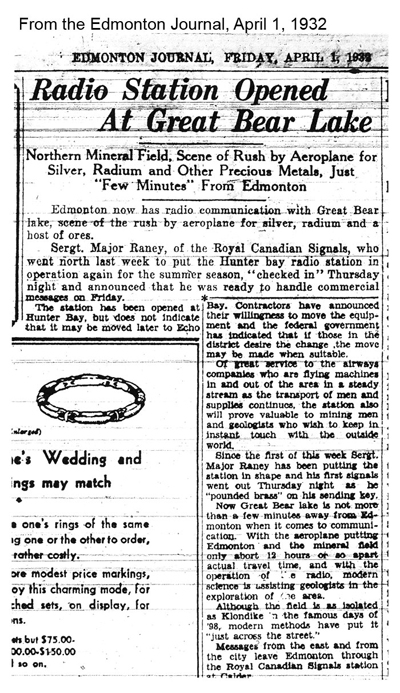 Edmonton Journal Article 1932